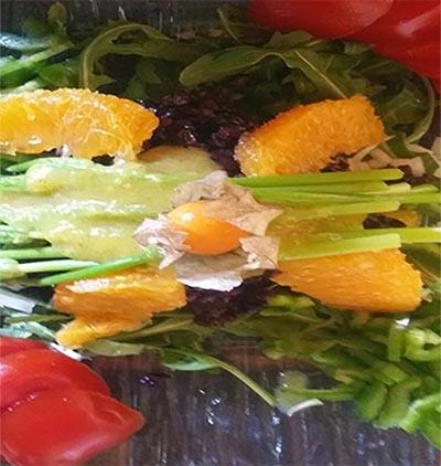 Salade Riz noir et Ornithogales